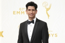 Raza Jaffrey on the red carpet at the 67th Emmy Awards.