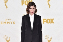 Carrie Brownstein on the red carpet at the 67th Emmy Awards.