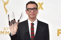 Fred Armisen on the red carpet at the 67th Emmy Awards.