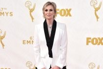 Jane Lynch on the red carpet at the 67th Emmy Awards.