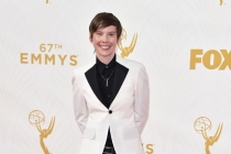 Abigail Savage on the red carpet at the 67th Emmy Awards.