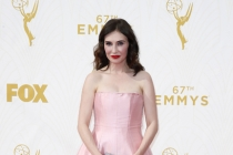 Carice van Houten on the red carpet at the 67th Emmy Awards.