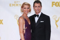 Claire Danes and Hugh Dancy on the red carpet at the 67th Emmy Awards.