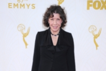 Lily Tomlin on the red carpet at the 67th Emmy Awards.