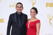 Richard Cabral on the red carpet at the 67th Emmy Awards.