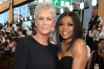 Jamie Lee Curtis and Taraji P. Henson on the red carpet at the 67th Emmy Awards.