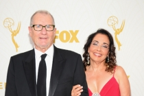 Ed O'Neill and Catherine Rusoff on the red carpet at the 67th Emmy Awards.