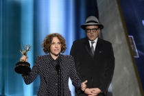 Jill Soloway accepts her award at the 67th Emmy Awards.