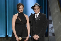Joan Cusack and Bradley Whitford present at the 67th Emmy Awards.