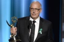 Jeffrey Tambor accepts his award at the 67th Emmy Awards.