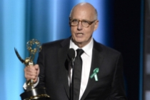 Jeffrey Tambor accepts his award at the 67th Emmy Awards.