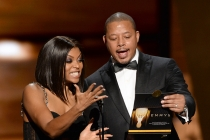 Taraji P. Henson and Terrence Howard present at the 67th Emmy Awards.