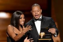 Taraji P. Henson and Terrence Howard present at the 67th Emmy Awards.