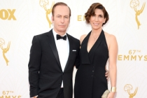 Bob Odenkirk and Naomi Yomtov on the red carpet at the 67th Emmy Awards.
