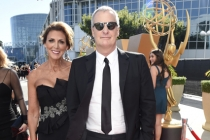 Kathleen Rosemary Treado and Jeff Daniels on the red carpet at the 67th Emmy Awards.