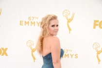 Amy Schumer on the red carpet at the 67th Emmy Awards.
