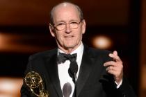 Richard Jenkins accepts an award at the 67th Emmy Awards.
