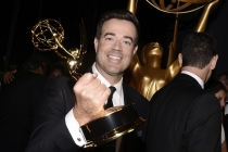 Carson Daly backstage at the 67th Emmy Awards.