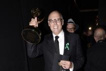 Jeffrey Tambor backstage at the 67th Emmy Awards.