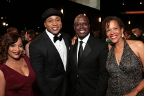 Simone Smith, LL Cool J, Andre Braugher and Ami Brabson at the 67th Emmy Awards.