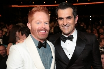 Jesse Tyler Ferguson and Ty Burrell at the 67th Emmy Awards.