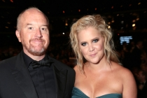 Louis C.K. and Amy Schumer at the 67th Emmy Awards.