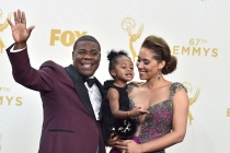 Tracy Morgan and his family backstage at the 67th Emmy Awards.