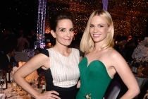Tina Fey and January Jones at the 67th Emmys Governors Ball.