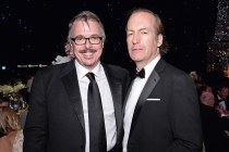 Vince Gilligan and Bob Odenkirk at the 67th Emmys Governors Ball.