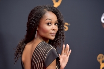 Zuri Hall on the red carpet at the 2016 Primetime Emmys.
