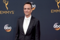 Hank Azaria arrives on the red carpet at the 2016 Primetime Emmys.