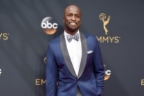 Akbar Gbaja-Biamila on the red carpet at the 2016 Primetime Emmys.