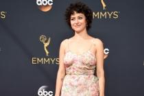 Alia Shawkat on the red carpet at the 2016 Primetime Emmys.