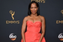 Regina King on the red carpet at the 2016 Primetime Emmys.
