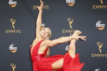 Jessie Graff on the red carpet at the 2016 Primetime Emmys.