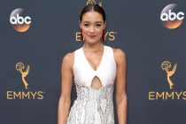 Rachel Smith on the red carpet at the 2016 Primetime Emmys.