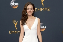 Emmy Rossum on the red carpet at the 2016 Primetime Emmys.