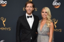 Thomas Middleditch and Mollie Gates on the red carpet at the 2016 Primetime Emmys.