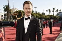 Derek Hough on the red carpet at the 2016 Primetime Emmys.