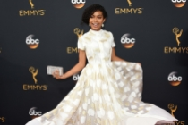 Yara Shahidi on the red carpet at the 2016 Primetime Emmys.