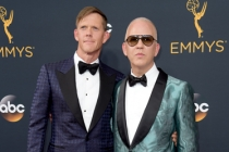 David Miller and Ryan Murphy on the red carpet at the 2016 Primetime Emmys.