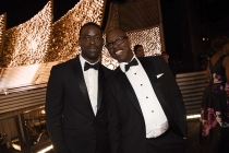 Sterling K. Brown and Courtney B. Vance at the 2016 Primetime Emmys.