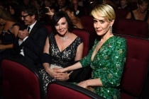 Marcia Clark and Sarah Paulson at the 2016 Primetime Emmys.
