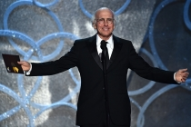 Larry David presents an award at the 2016 Primetime Emmys.