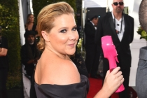 Amy Schumer on the red carpet at the 2016 Primetime Emmys.