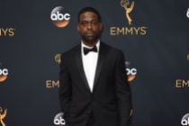 Sterling K. Brown on the red carpet at the 2016 Primetime Emmys.