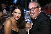Lisa Vanserpump and guest at the 68th Emmys Governors Ball.