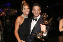 Lee Metzger and guest at the 68th Emmys Governors Ball.