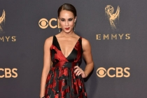 Alex Hudgens on the red carpet at the 2017 Primetime Emmys.