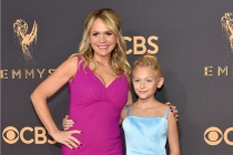 Barbara Alyn Woods and Alyvia Alyn Lind on the red carpet at the 69th Primetime Emmy Awards.